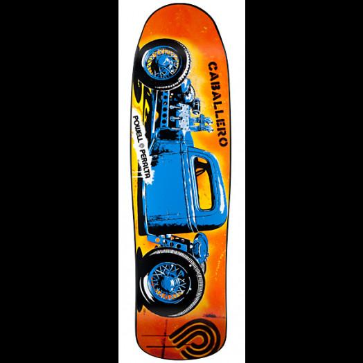 Powell Peralta Steve Caballero Blue Hot Rod Skateboard Deck - 9 16 x