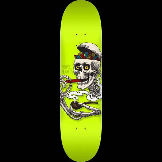 Powell Peralta Curb Skelly Skateboard Blem Deck Lime - 8.5 x 32.08