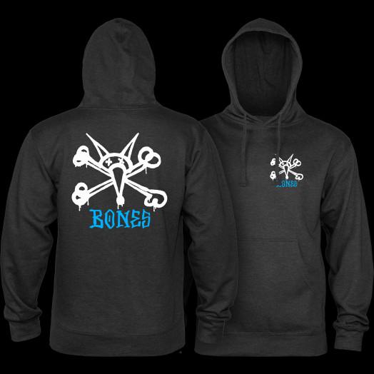Powell Peralta Rat Bones Hooded Sweatshirt Mid Weight Charcoal Heather