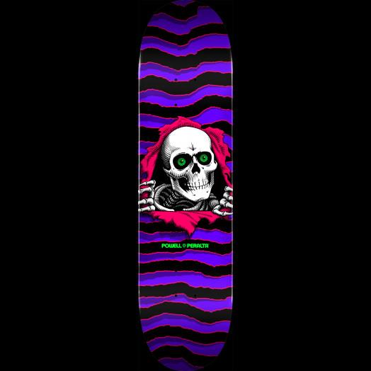 Powell Peralta Ripper Skateboard Deck Purple Shape 124 - 7.46 x 30.93