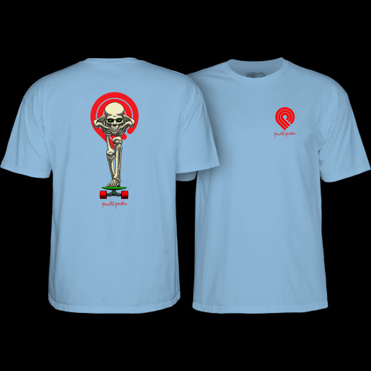 Powell Peralta Tucking Skeleton T-shirt Carolina Blue