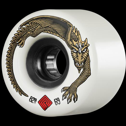 Powell Peralta DragonSkin Skateboard Wheel 69mm 82A White 4 pk.