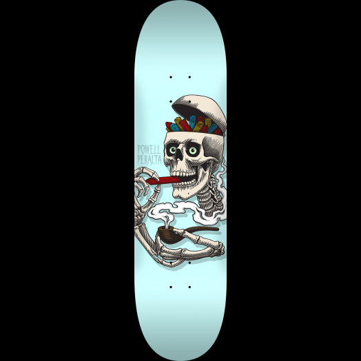 Powell Peralta Curb Skelly Skateboard Deck Blue - Shape 247 - 8 x 31.45