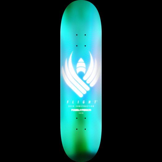 Powell Peralta Flight® Skateboard Deck Glow Turquoise - Shape 243 - 8.25 x 31.95