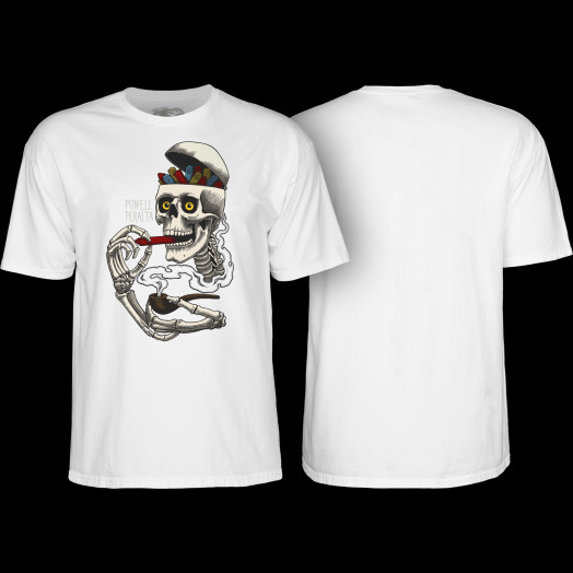 Powell Peralta Curb Skelly T-shirt White
