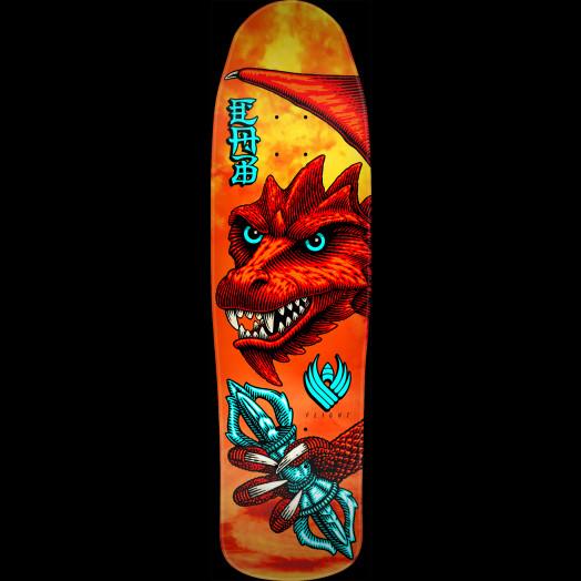 Powell Peralta Pro Steve Caballero Dragon Wing Flight® Skateboard Deck - Shape 216 - 9 x 31.9