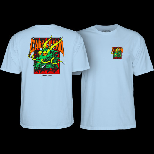 Powell Peralta Steve Caballero Street Dragon T-shirt - Powder Blue