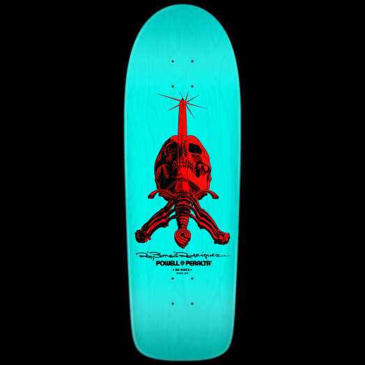 Powell peralta rodriguez skull sword skateboard deck light blue powell peralta rodriguez skull sword skateboard deck light blue 10 x 30 aloadofball Gallery