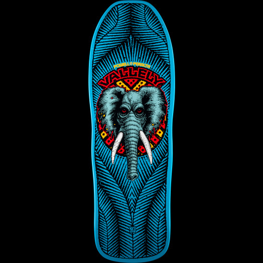 Powell Peralta Vallely Elephant Skateboard Deck BLUE - 10 x 30 25