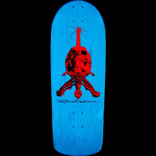 Powell Peralta OG Rodriguez Skull and Sword Skateboard Deck Blue - 10 x 28.25
