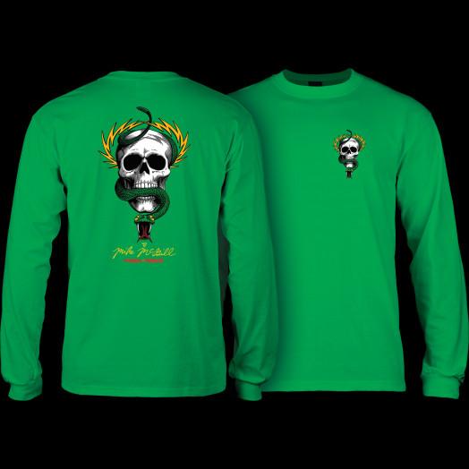 Powell Peralta Skull & Snake L/S Shirt Kelly Green