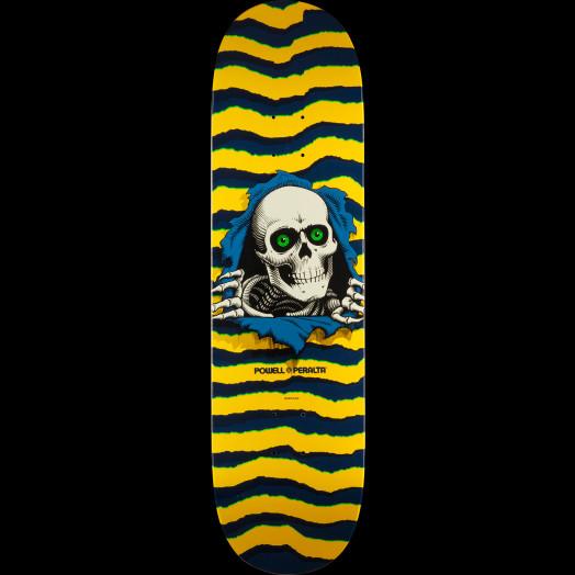Powell Peralta Ripper Skateboard Deck Yellow - Shape 247 - 8 x 31.45