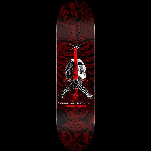 Powell Peralta Skull & Sword Blem Skateboard Deck Red 249 K20 - 8.5 x 32