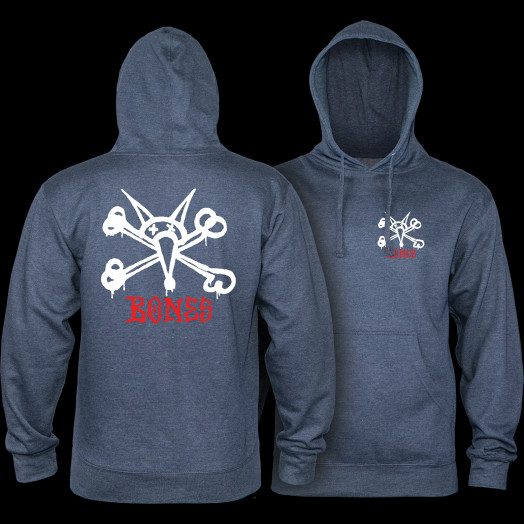 Powell Peralta Rat Bones Mid Weight Hooded Sweatshirt - Navy Heather