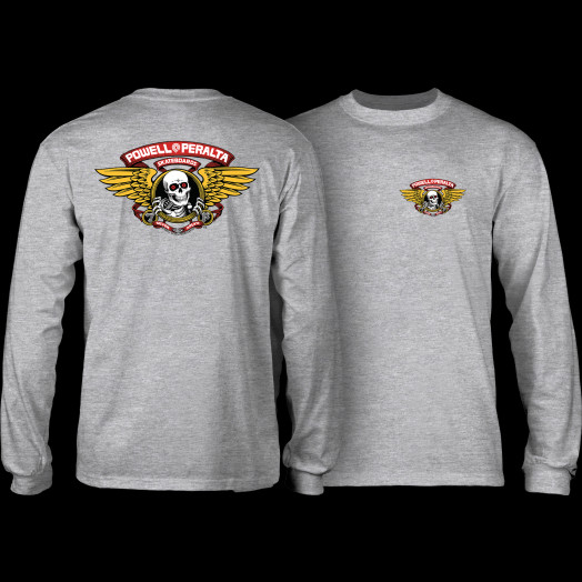 Powell Peralta Winged Ripper L/S Shirt Athletic Heather