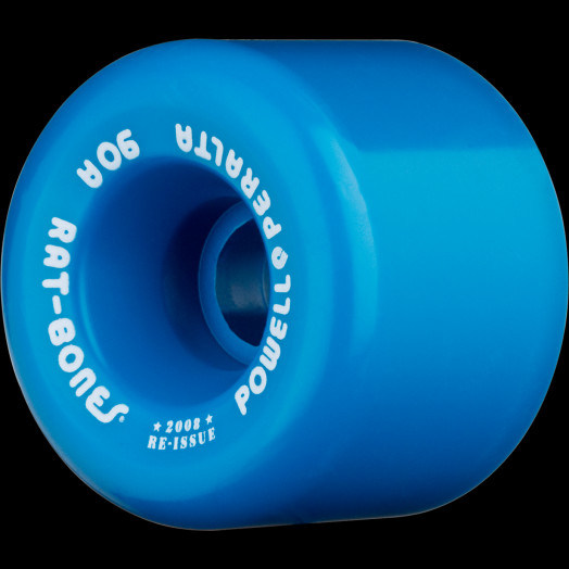 Powell Peralta Rat Bones Skateboard Wheels 60mm 90a - Blue (4 pack)