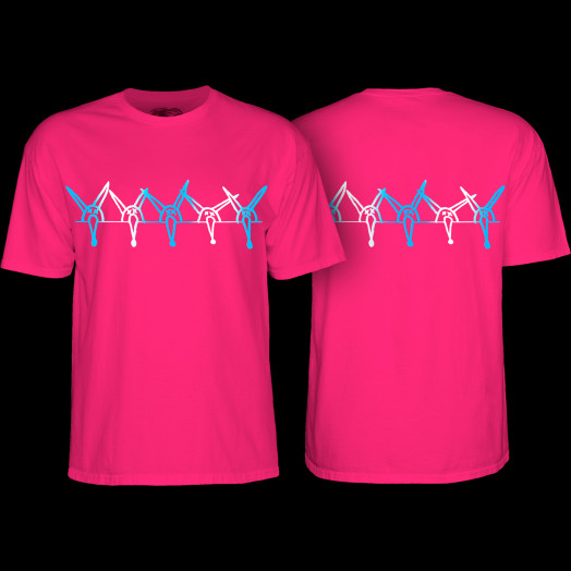Powell Peralta Rat Band YOUTH T-shirt - Hot Pink