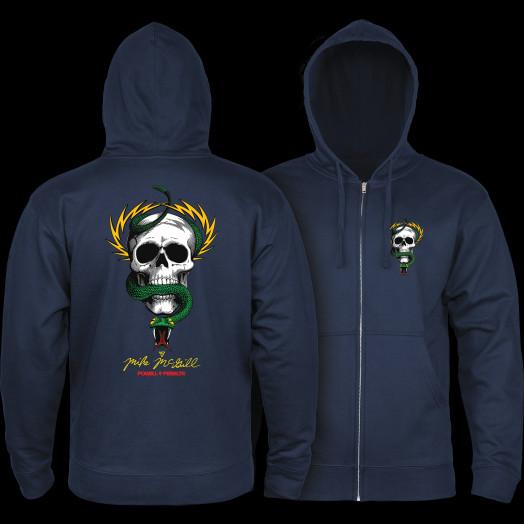 Powell Peralta McGill Skull and Snake Hooded Zip Sweatshirt - Navy