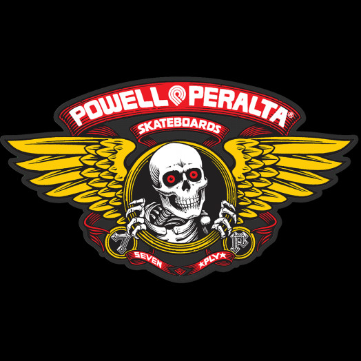 "Powell Peralta Winged Ripper 12"" Die-Cut Ramp Sticker - RED"