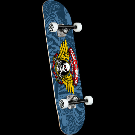Powell Peralta Winged Ripper Blue Birch Complete Skateboard - 8 x 31.45