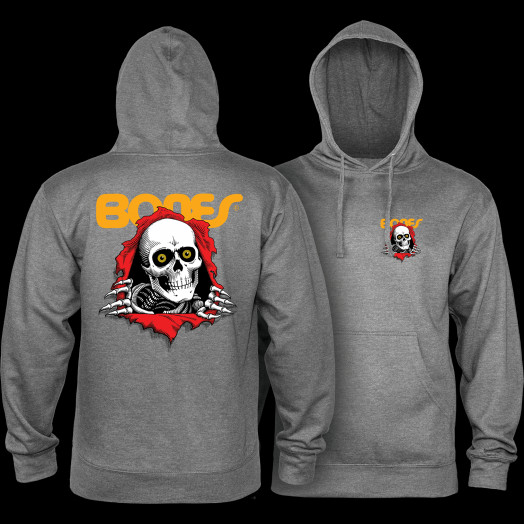 Powell Peralta Ripper Hooded Sweatshirt Mid Weight Gunmetal Heather