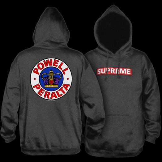 Powell Peralta Supreme 2 Hooded Sweatshirt Charcoal
