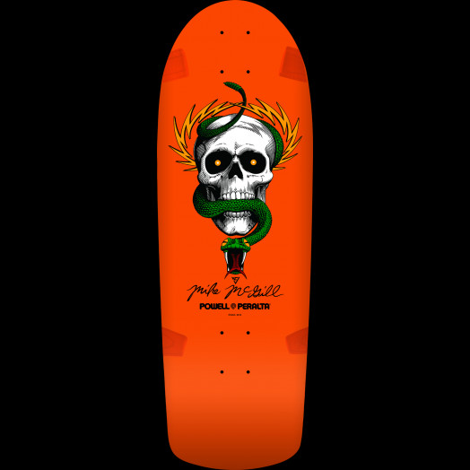 Powell Peralta McGill Skull and Snake Skateboard Deck Orange - 10 x 30.125 - Limit one per Customer