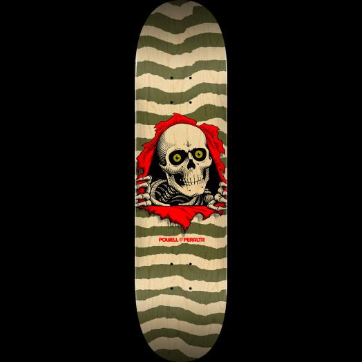Powell Peralta Ripper Skateboard Deck Natural Olive - Shape 245 - 8.75 x 32.95