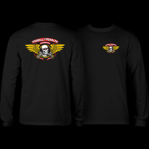 Powell Peralta Winged Ripper L/S T-shirt - Black