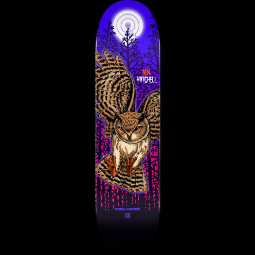 Powell Peralta Pro Ben Hatchell Owl Skateboard Deck - Shape 249 - 8.5 x 32.08