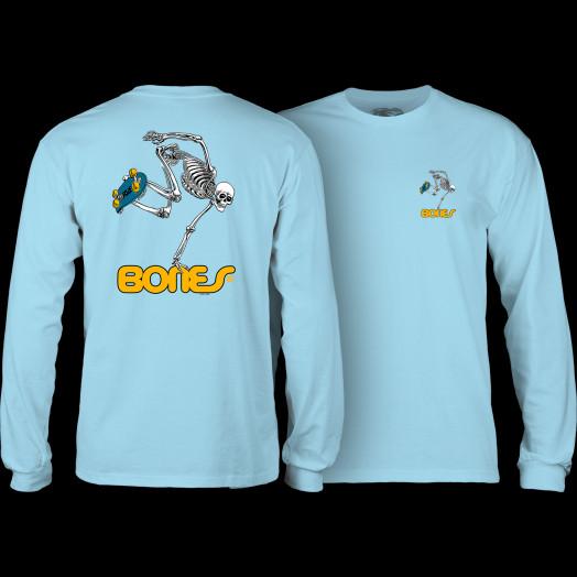 Powell Peralta Skateboarding Skeleton L/S T-shirt Powder Blue