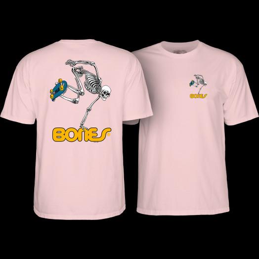 Powell Peralta Skateboarding Skeleton YOUTH T-shirt - Light Pink
