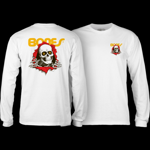 Powell Peralta Ripper L/S T-shirt - White