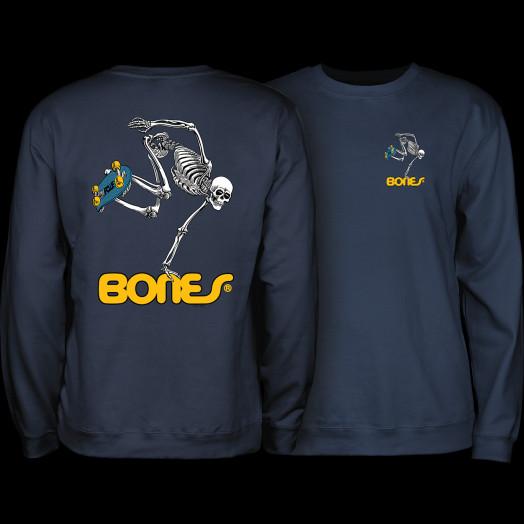 Powell Peralta Skateboard Skeleton Midweight Crewneck Sweatshirt - Navy