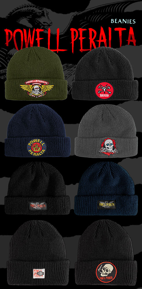 New Beanies from Powell Peralta